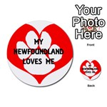 My Newfie Loves Me Multi-purpose Cards (Round)  Back 12