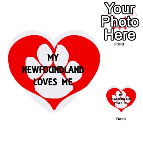My Newfie Loves Me Multi-purpose Cards (Heart)