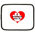 My Newfie Loves Me Netbook Case (Large) Front