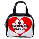 My Newfie Loves Me Classic Handbags (One Side) Front
