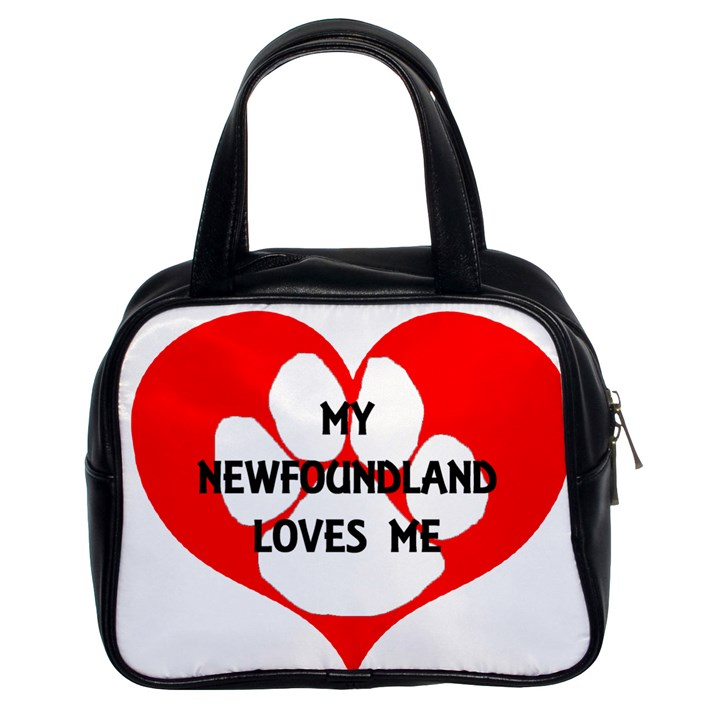 My Newfie Loves Me Classic Handbags (2 Sides)