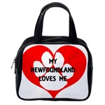 My Newfie Loves Me Classic Handbags (2 Sides) Back