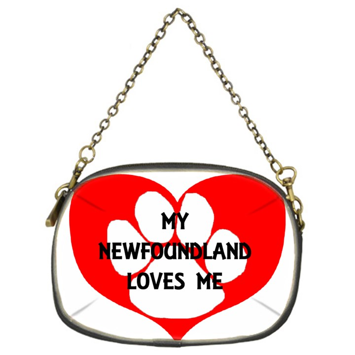 My Newfie Loves Me Chain Purses (One Side)