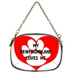 My Newfie Loves Me Chain Purses (Two Sides)  Front