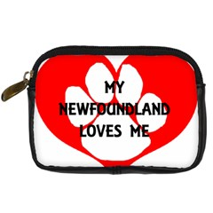 My Newfie Loves Me Digital Camera Cases