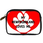 My Newfie Loves Me Digital Camera Cases Front