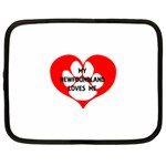 My Newfie Loves Me Netbook Case (XL)  Front