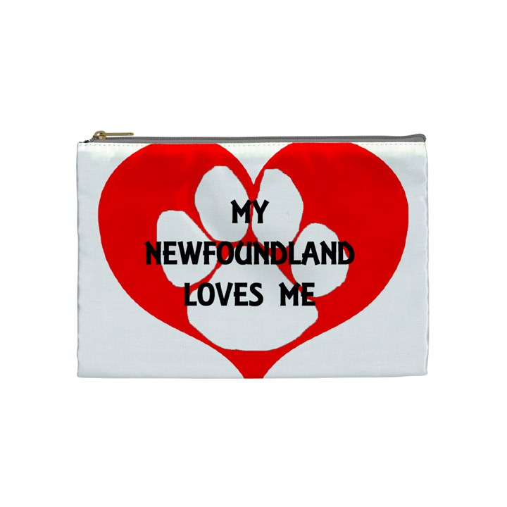 My Newfie Loves Me Cosmetic Bag (Medium)