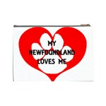 My Newfie Loves Me Cosmetic Bag (Large)  Back
