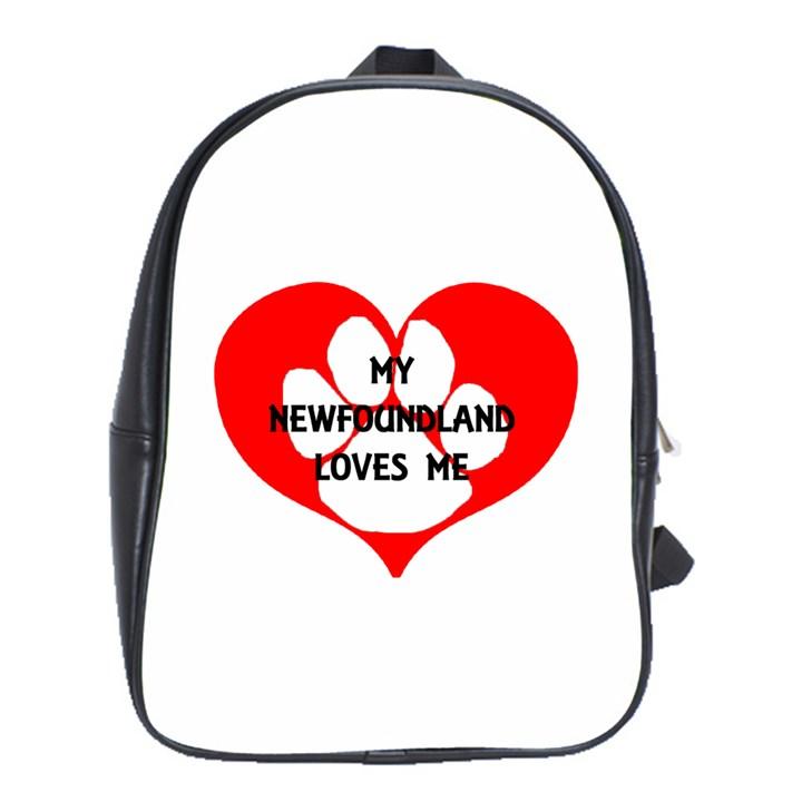 My Newfie Loves Me School Bags(Large)