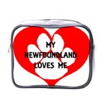 My Newfie Loves Me Mini Toiletries Bags Front