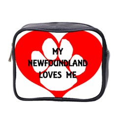 My Newfie Loves Me Mini Toiletries Bag 2 Side