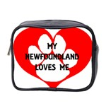 My Newfie Loves Me Mini Toiletries Bag 2-Side Front