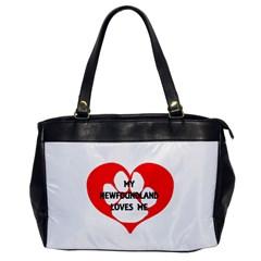 My Newfie Loves Me Office Handbags