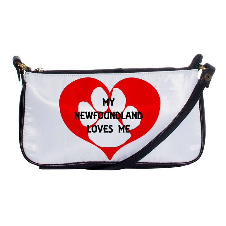 My Newfie Loves Me Shoulder Clutch Bags
