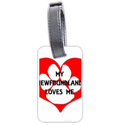 My Newfie Loves Me Luggage Tags (Two Sides)