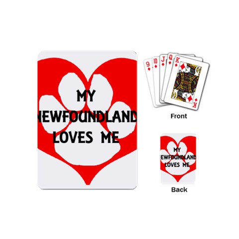My Newfie Loves Me Playing Cards (Mini)