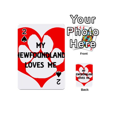 My Newfie Loves Me Playing Cards 54 (Mini)