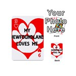 My Newfie Loves Me Playing Cards 54 (Mini)  Front - Heart9