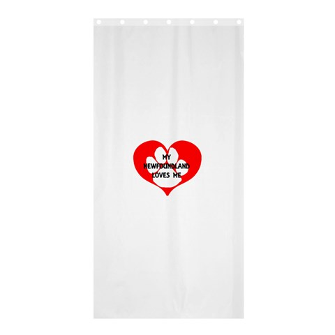 My Newfie Loves Me Shower Curtain 36  x 72  (Stall)