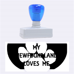 My Newfie Loves Me Rubber Stamps (Large)