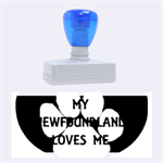 My Newfie Loves Me Rubber Stamps (Large) 2.26 x1.05  Stamp
