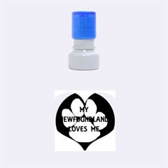 My Newfie Loves Me Rubber Round Stamps (Small)