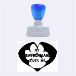 My Newfie Loves Me Rubber Oval Stamps 1.88 x1.37  Stamp