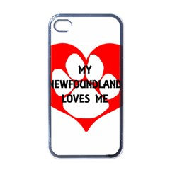 My Newfie Loves Me Apple iPhone 4 Case (Black)