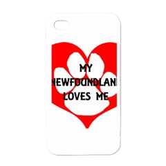 My Newfie Loves Me Apple iPhone 4 Case (White)