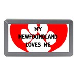 My Newfie Loves Me Memory Card Reader (Mini) Front