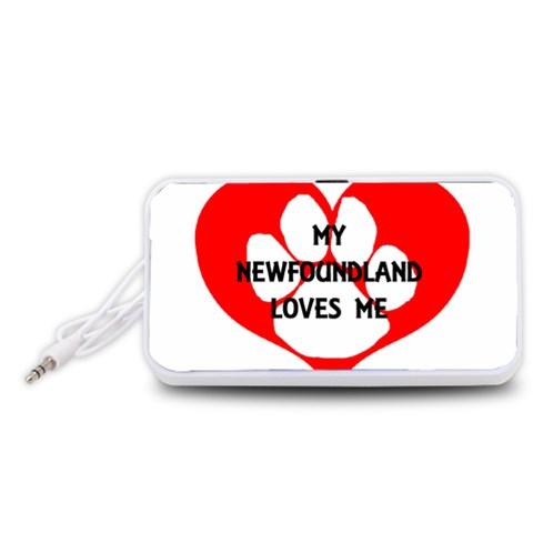 My Newfie Loves Me Portable Speaker (White)