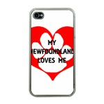 My Newfie Loves Me Apple iPhone 4 Case (Clear) Front