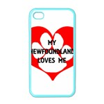 My Newfie Loves Me Apple iPhone 4 Case (Color) Front