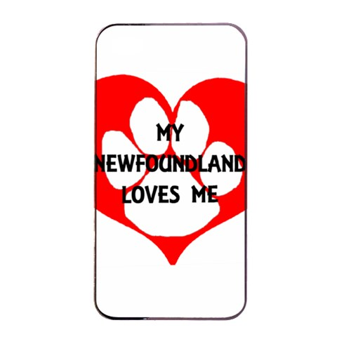 My Newfie Loves Me Apple iPhone 4/4s Seamless Case (Black)