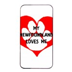 My Newfie Loves Me Apple iPhone 4/4s Seamless Case (Black) Front