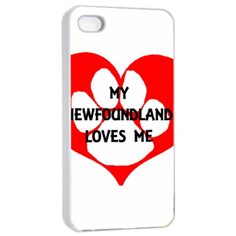 My Newfie Loves Me Apple iPhone 4/4s Seamless Case (White)