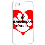 My Newfie Loves Me Apple iPhone 4/4s Seamless Case (White) Front
