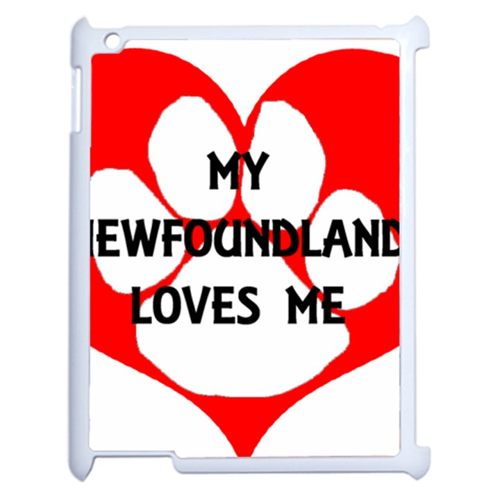 My Newfie Loves Me Apple iPad 2 Case (White)