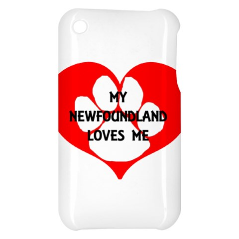 My Newfie Loves Me Apple iPhone 3G/3GS Hardshell Case