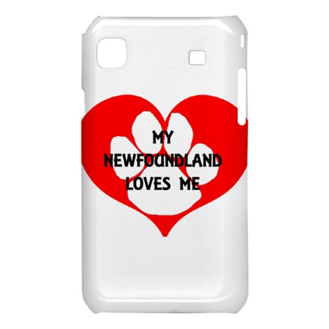 My Newfie Loves Me Samsung Galaxy S i9008 Hardshell Case