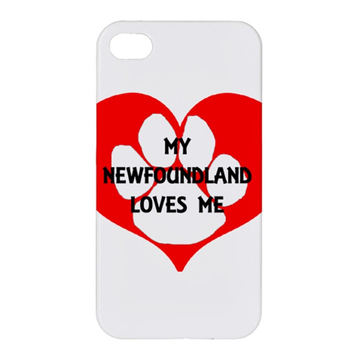 My Newfie Loves Me Apple iPhone 4/4S Premium Hardshell Case