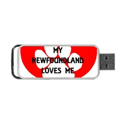 My Newfie Loves Me Portable USB Flash (Two Sides)