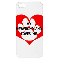 My Newfie Loves Me Apple iPhone 5 Hardshell Case