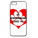 My Newfie Loves Me Apple iPhone 5 Seamless Case (Black) Front