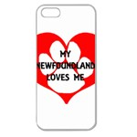My Newfie Loves Me Apple Seamless iPhone 5 Case (Clear) Front