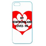 My Newfie Loves Me Apple Seamless iPhone 5 Case (Color) Front