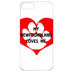 My Newfie Loves Me Apple iPhone 5 Classic Hardshell Case