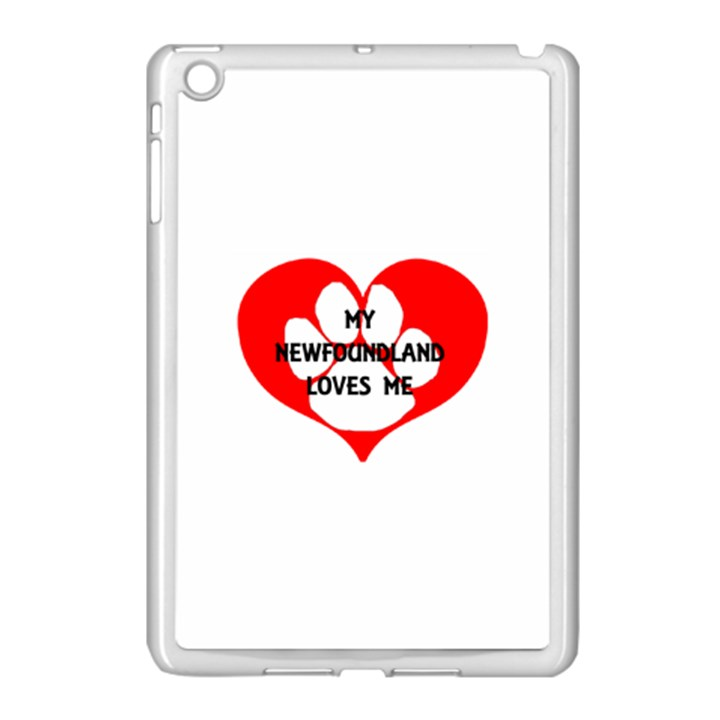 My Newfie Loves Me Apple iPad Mini Case (White)