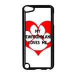 My Newfie Loves Me Apple iPod Touch 5 Case (Black) Front